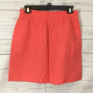 NWT J. Crew Ruffled Peach Skirt Size 6